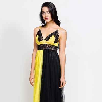 Yellow wedding lingerie
