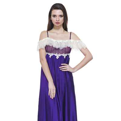 Purple wedding lingerie