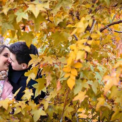 Outdoor autumn engagement
