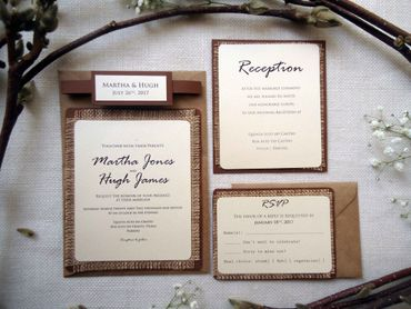 Ivory wedding invitations