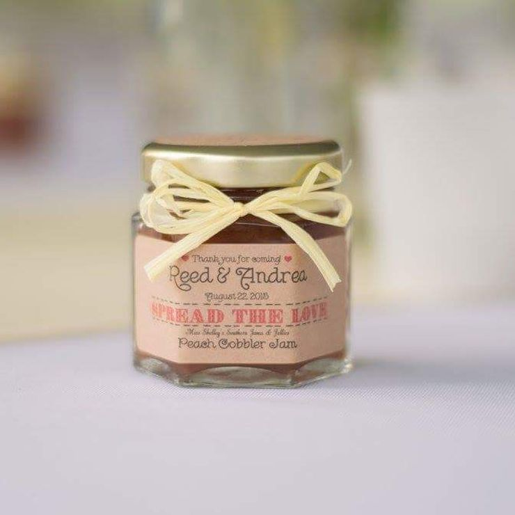 Georgia Peach Wedding Jam Favors