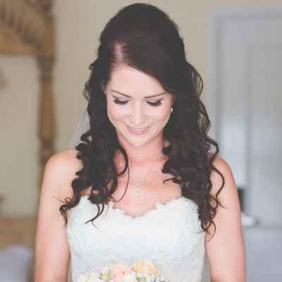 Overseas ivory bridal hair and make-up