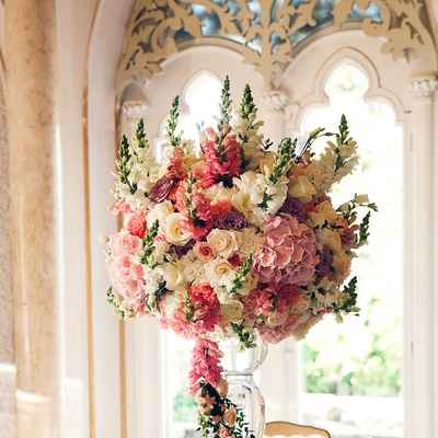 Ivory overseas wedding floral decor