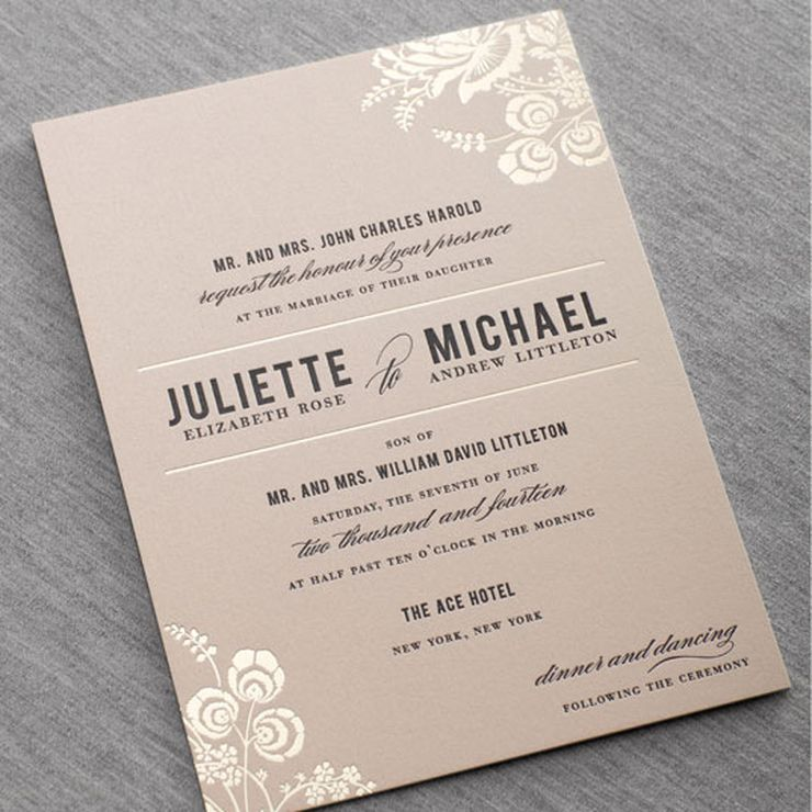 Couture invitations from Spark Letterpress