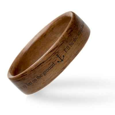 Brown wedding rings