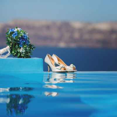 White outdoor wedding shoes