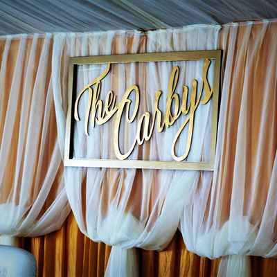 Gold wedding signs