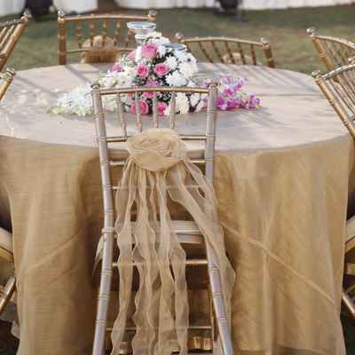 White outdoor wedding reception decor