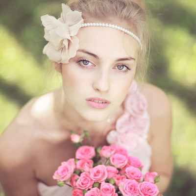 French summer bridal style