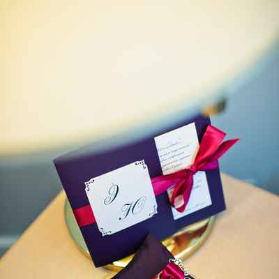 Purple wedding ring pillows