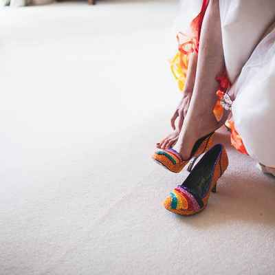 Autumn wedding shoes