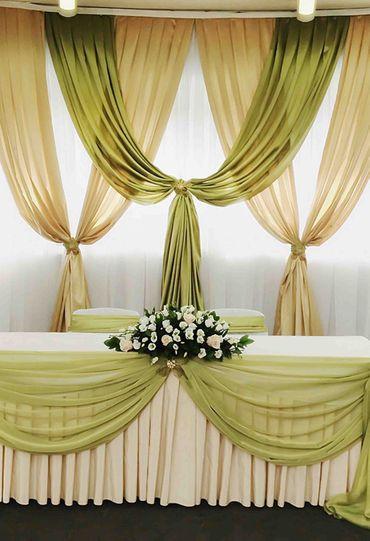 Green wedding reception decor