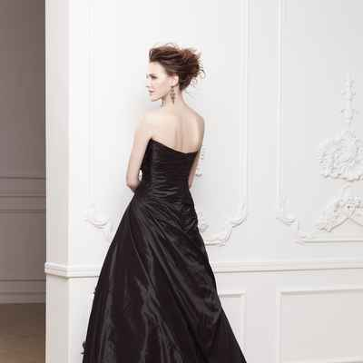 Black corset wedding dresses