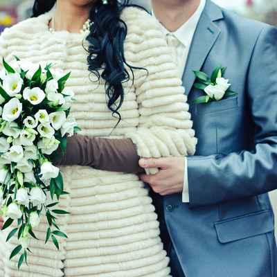 Green eustoma wedding bouquet