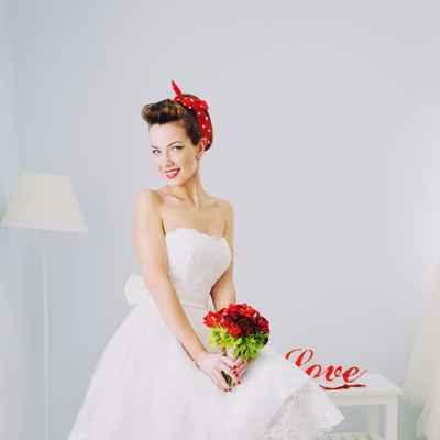 Vintage red corset wedding dresses